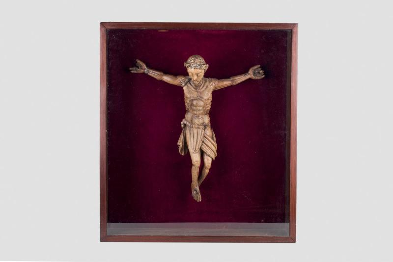 Romanskt krucifix föreställande Jesus på korset Utgångspris: 112 0000 SEK Duran Subastas