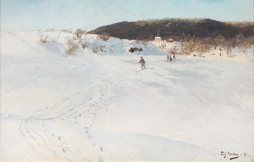 Frits Thaulow, Vinterdag i Norge, år 1886. Foto: Blomqvist.