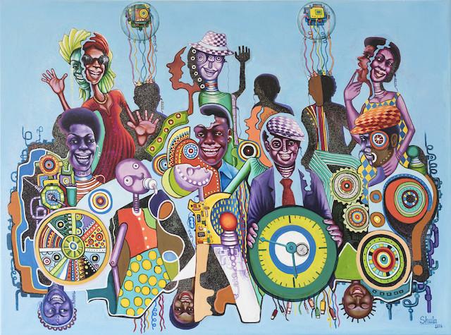 Monsengo Shula La révolution numérique, 2016, Peinture 1,242 South-East