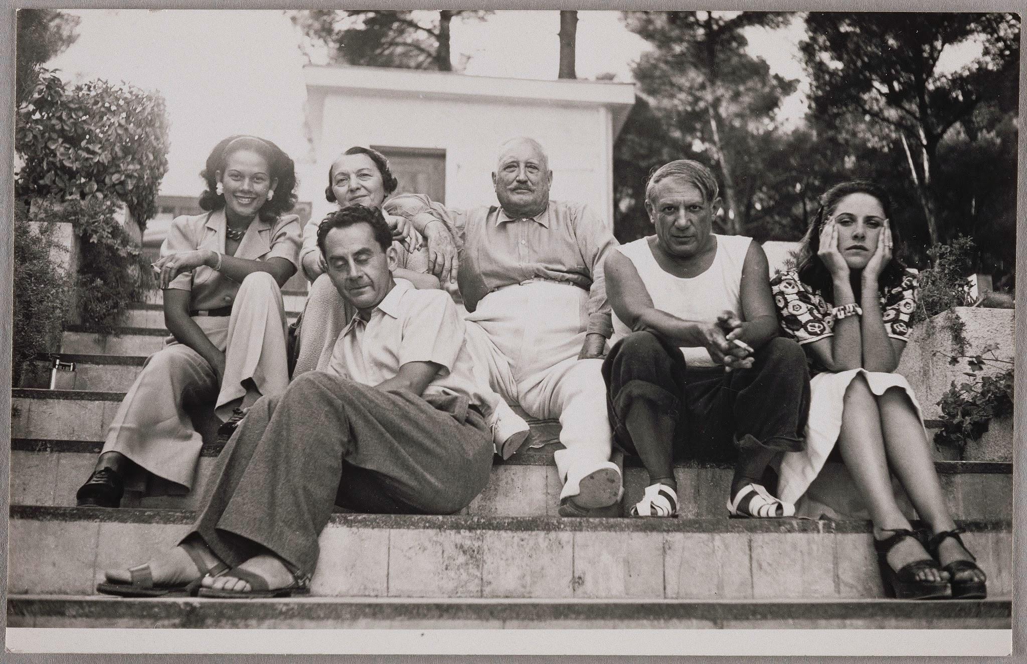 Ady Fidelin, Marie-Cuttoli, Man Ray, Picasso and Dora Maar, 1937 by Man Ray ©Man Ray Trust ADAGP Paris and DACS London 2017