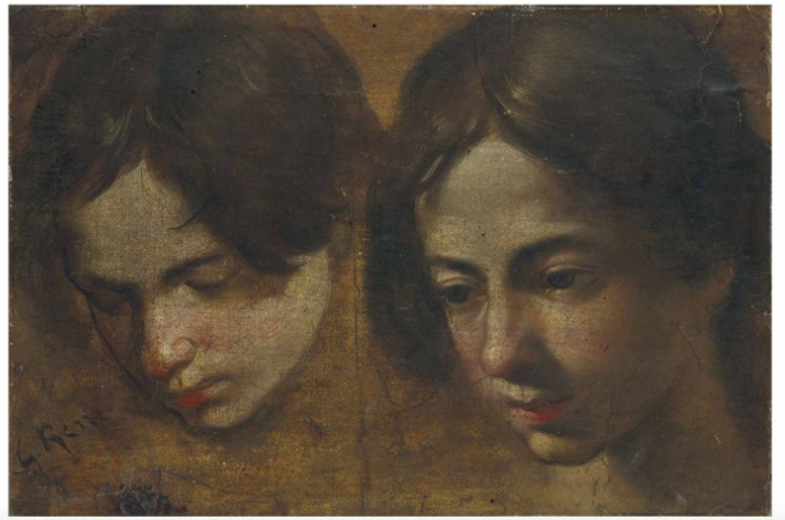 Simone Cantarini gen. Il Pesarese (zugeschr.), Kopfstudien