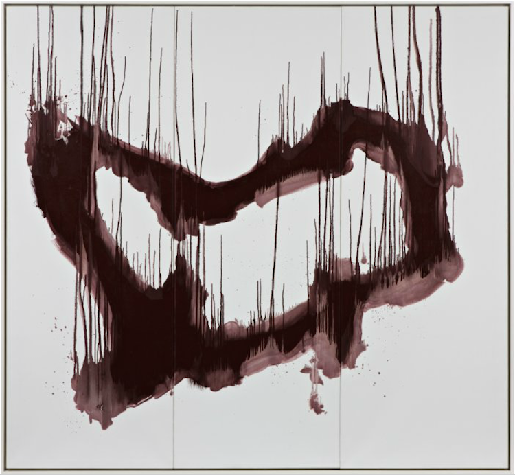 """Den norske konstnären Ole Jørgen Ness har bidragit med det nästan två meter stora verket """"Sore lips"""" från 2001. Värderingen är satt till 100-150 000 norska kronor"""