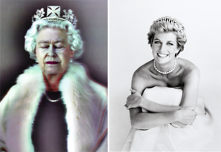 Links: Chris Levine, Lightness of Being, 2010 Rechts: Patrick Demarchelier, Princess Diana, London, 1990 | Fotos: Sotheby's