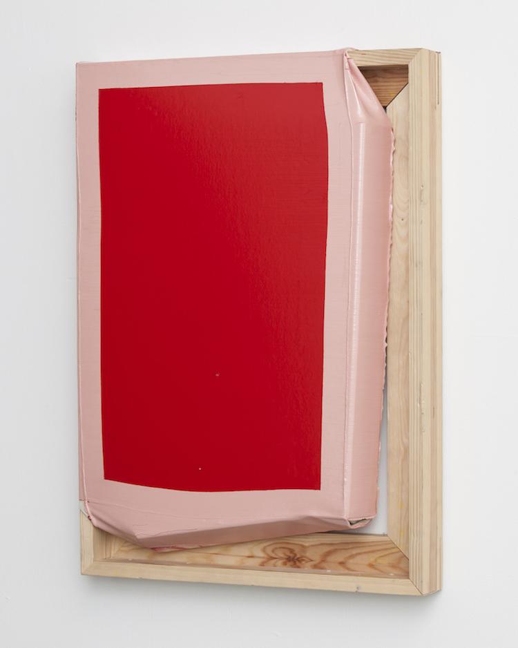 Tight (Pink/Red), Angela de la Cruz