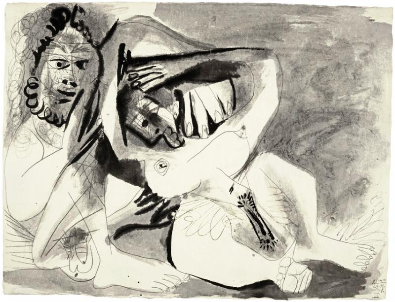"""Pablo Picasso, """"Homme et femme nus"""" Bild: Sotheby's."""