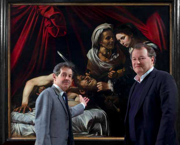 Old Master's expert Eric Turquin (left) and Toulouse auctioneer Marc Labarbe in front of the painting. Image: Turquin