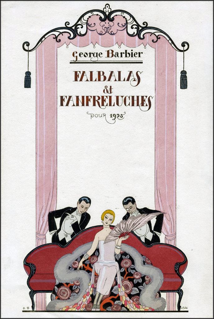 A cover from a 1925 edition of Barbier's luxury magazine 'Falbalas et Fanfrelyches' Image via http://houseofretro.com/index.php/2013/03/19/george-barbier-the-master-of-art-deco/