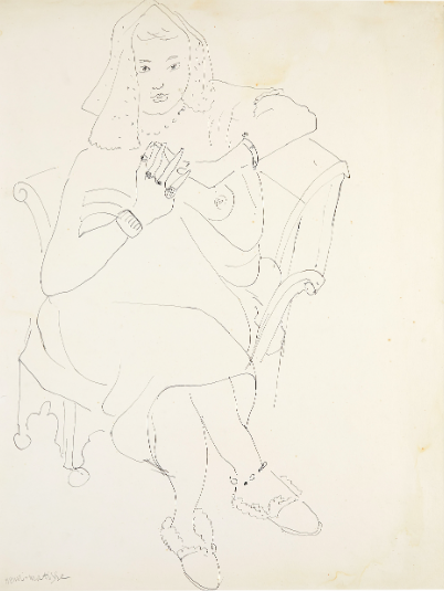 Henri Matisse, 'Lisette', 1929, Chinese ink. Photo: Stockholm Auktionsverk