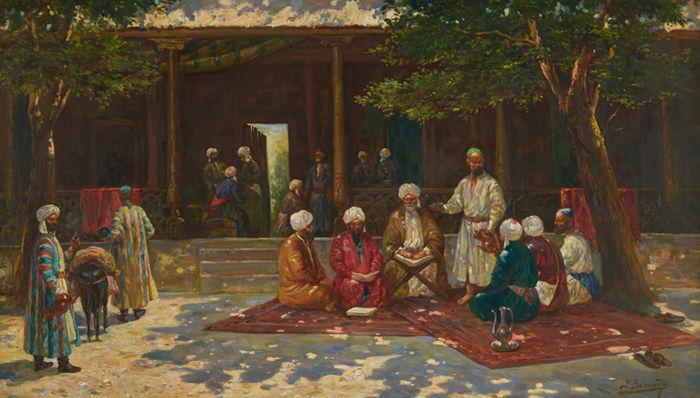 RICHARD KARLOVICH ZOMMER. La escuela de Corán. Precio de salida: 50.000 €