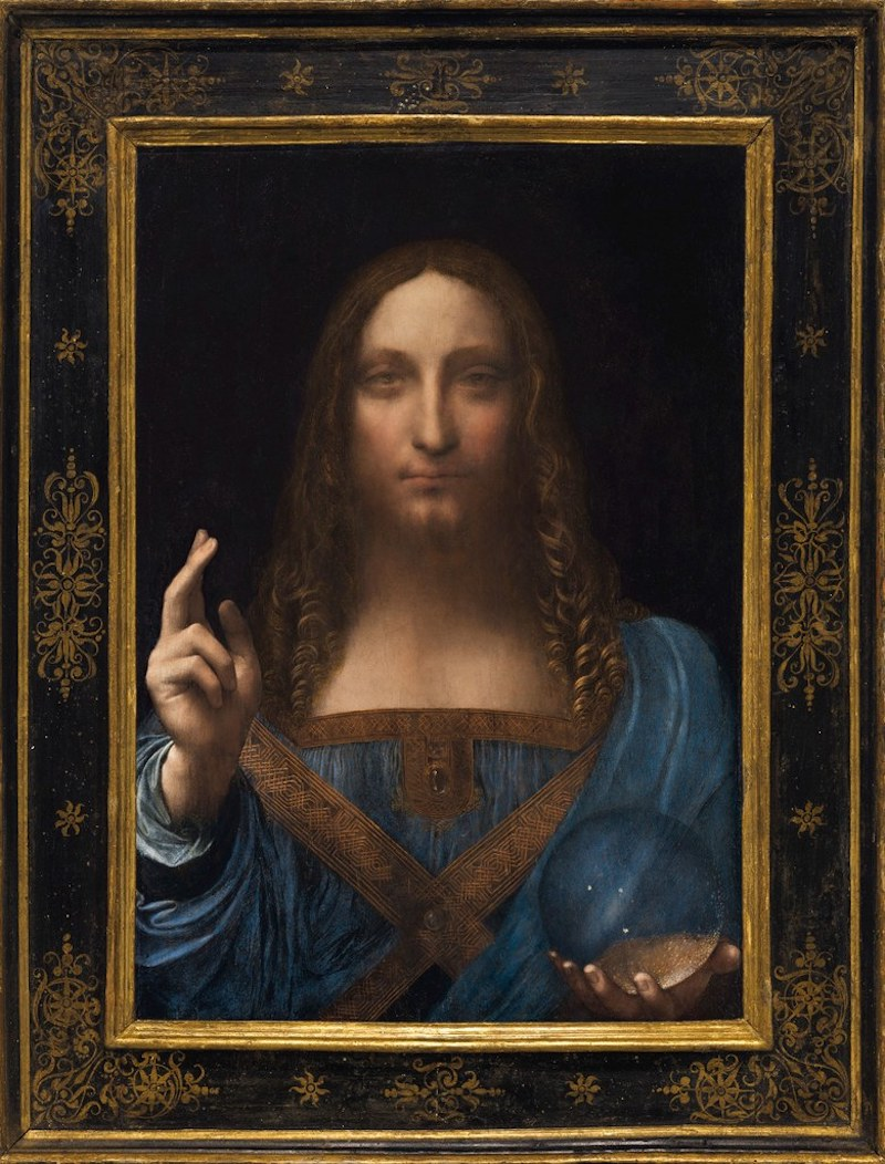 "En av favoriterna. Leonardo da Vinci's ""Salvator Mundi"" som ropas ut på Christie´s i höst. Foto: Courtesy of Christie's Images Ltd. 2017"