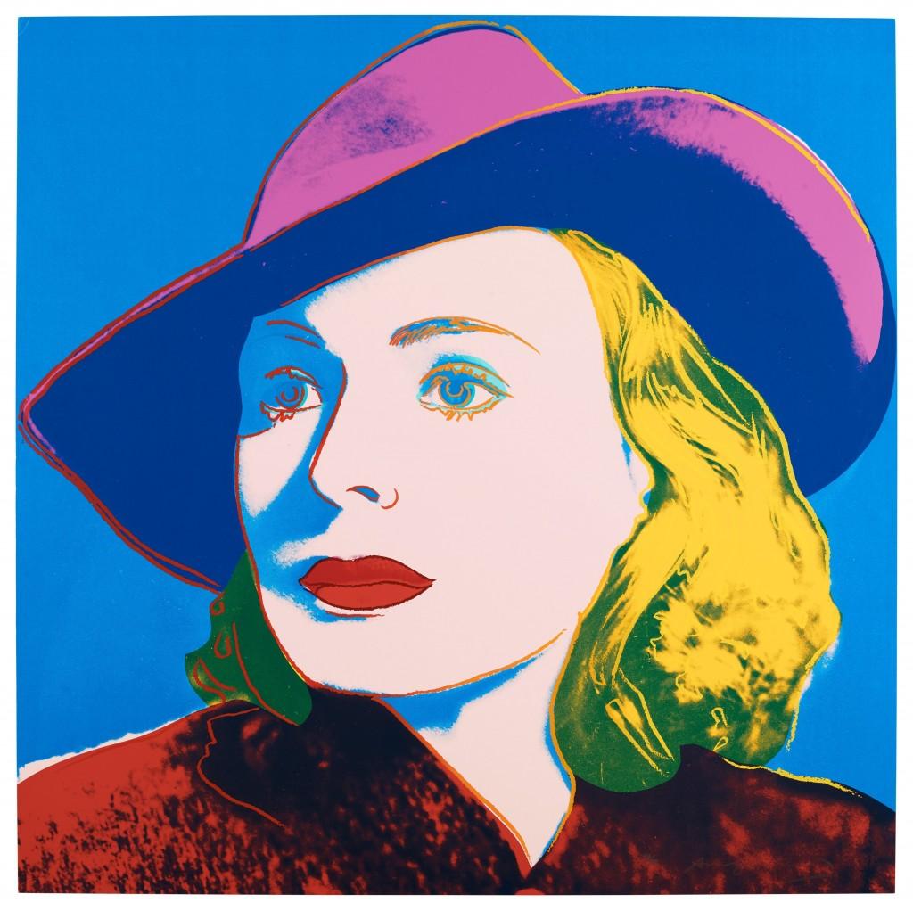 """Andy Warhol, """"Ingrid Bergman"""" en vente chez Bukowskis"""
