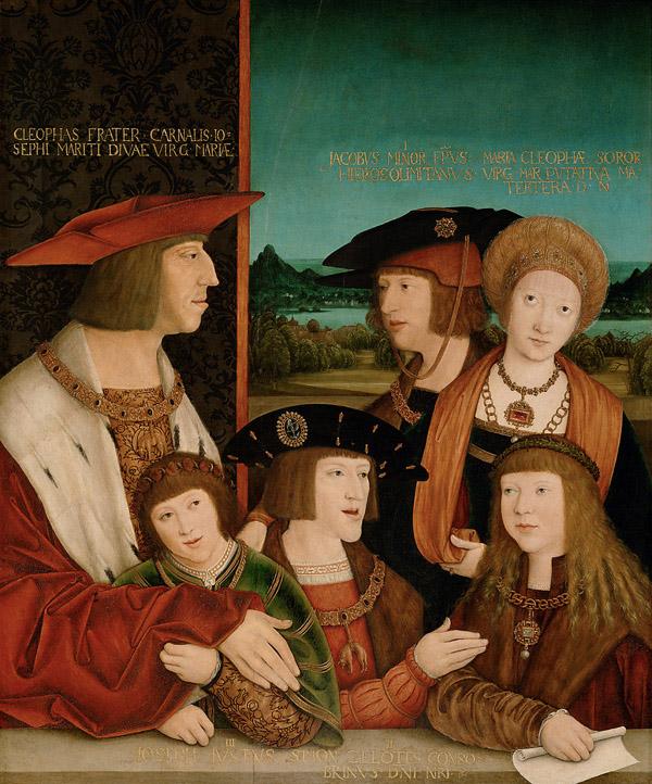 Maximilian I. und Maria v. Burgund mit Familie