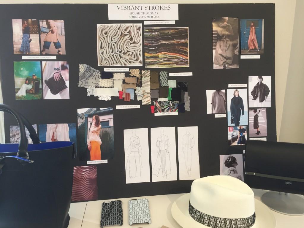 Inspirationsskiva som används inför vårkollektionen 2016.