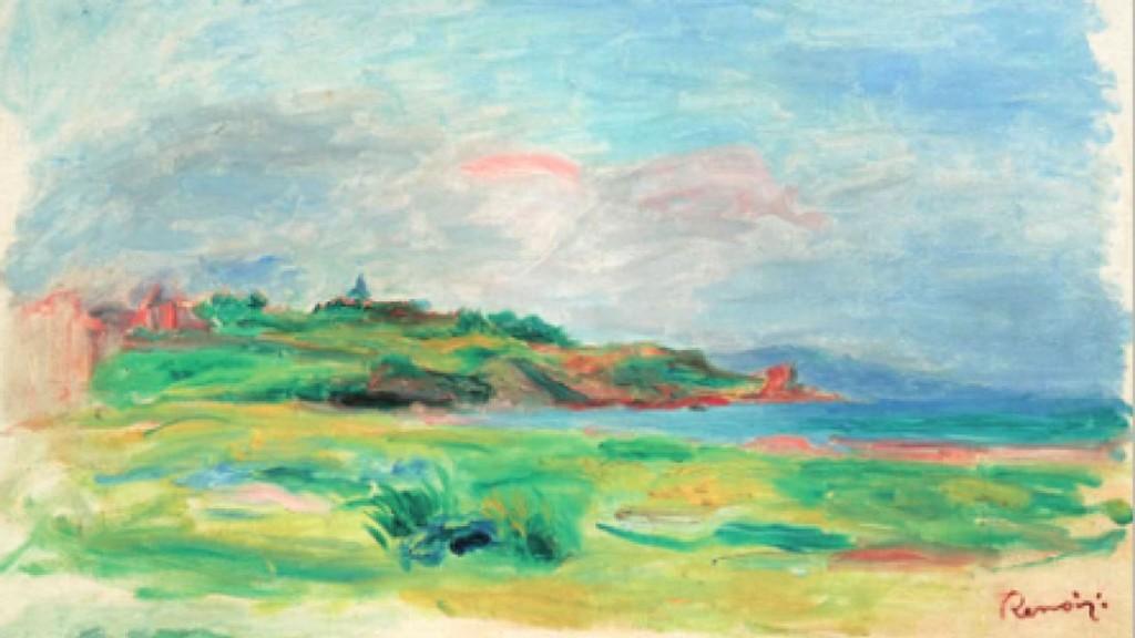 Pierre-Auguste Renoir, Golfe, Mer, Falaises Vertes, 1895. Immagine © Dorotheum.