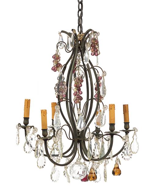 Lustre à six lumières en métal patiné français dans le goût de Louis XIV New Orleans Auction Galleries