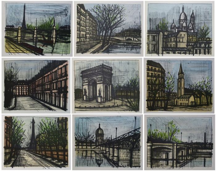 BERNARD BUFFET (1928-1999) - Paris, 10 Lithografien, signiert, 1967