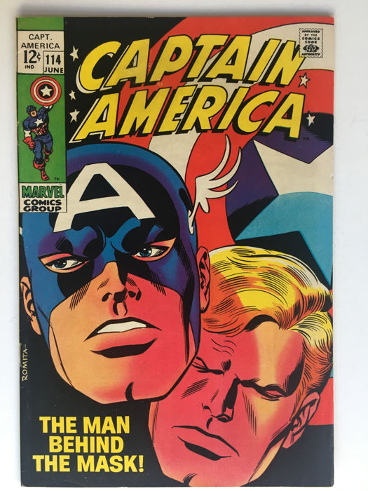 Marvel Comics - Captain America #114, första upplaga. Foto: Catawiki.