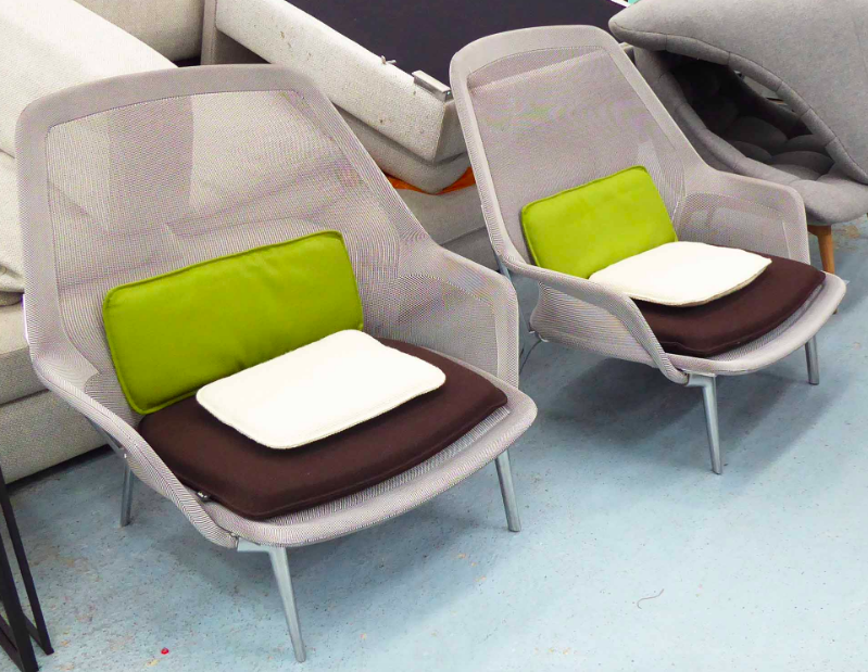 Pair of Ronan and Erwan Bouroullec Slow Chairs. Photo: Lots Road