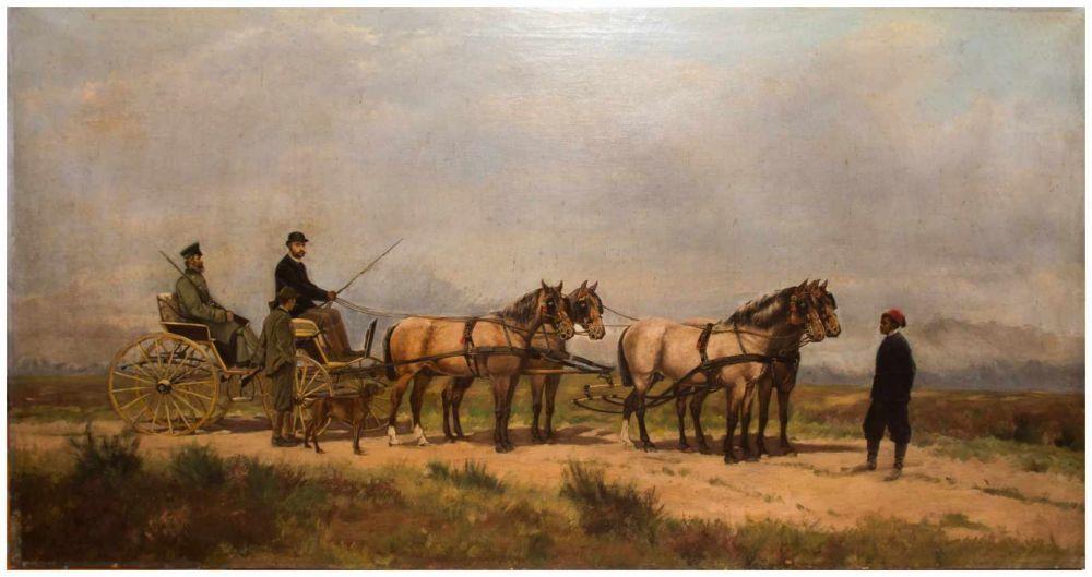 ARTHUR VON EPPINGHOVEN (1852-1940) - Leopold II. von Belgien, Öl/Lwd., signiert und datiert, 1886