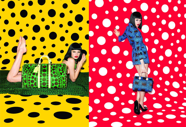 Yayoi Kusama per Louis Vuitton, immagine via The D'Vine.