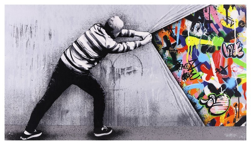 Martin Whatson, 'Behind the curtain', 2017. Image: Chiswick