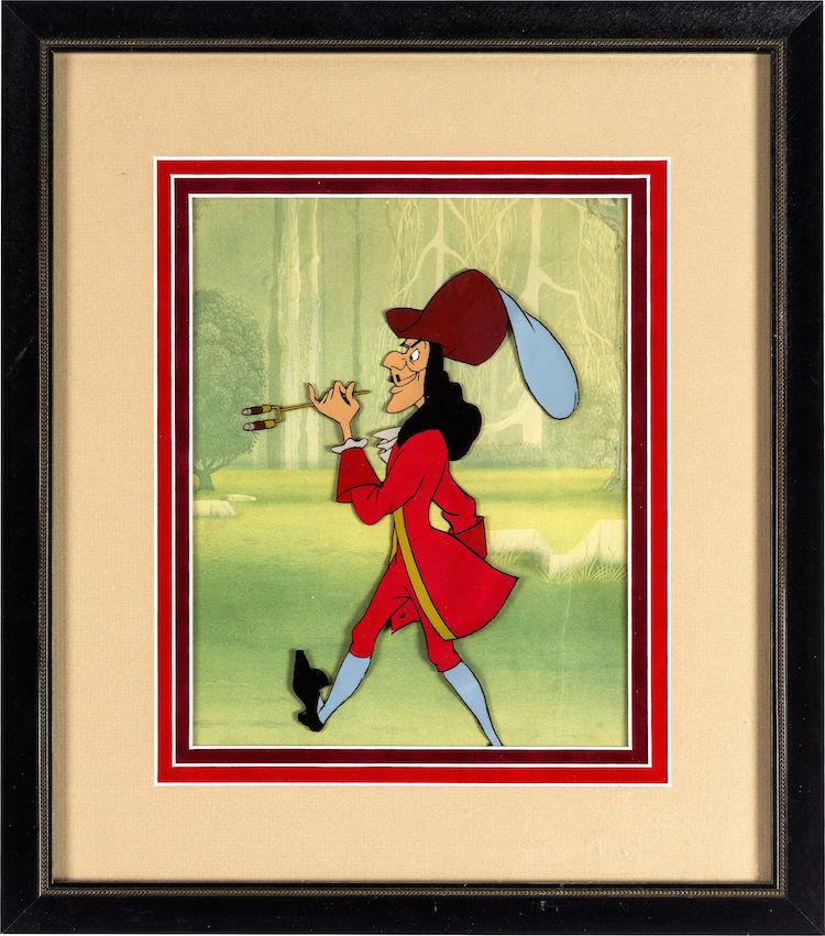 Samlarobjekt, originalgrafik av Kapten Krok. Utrop: 8.700 SEK Heritage Auction