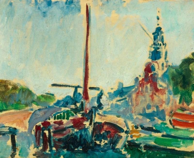"Kees van Dongen, ""Péniche à Delfshaven"", 1907."