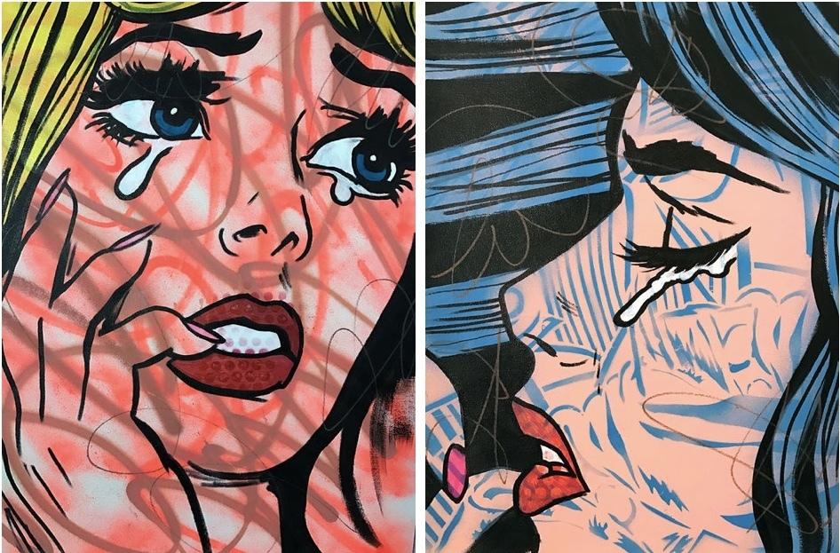 Vänster: Graffiti Girls Höger: Graffiti Girls