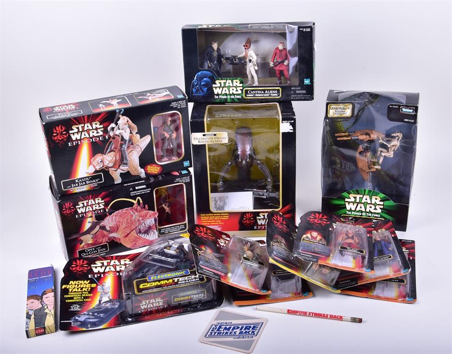 A collection of Star Wars Episode One and Power of the Force boxed toys. Photo: Dawson's Auctioneers