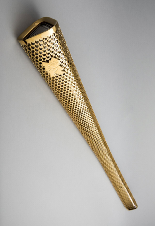 A 2012 London Olympic Games bearer's torch