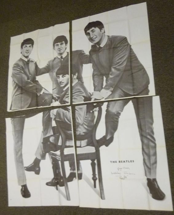 """4-teiliges Poster aus dem niederländischen Musikmagazin """"Muziek Parade"""", 1964"""