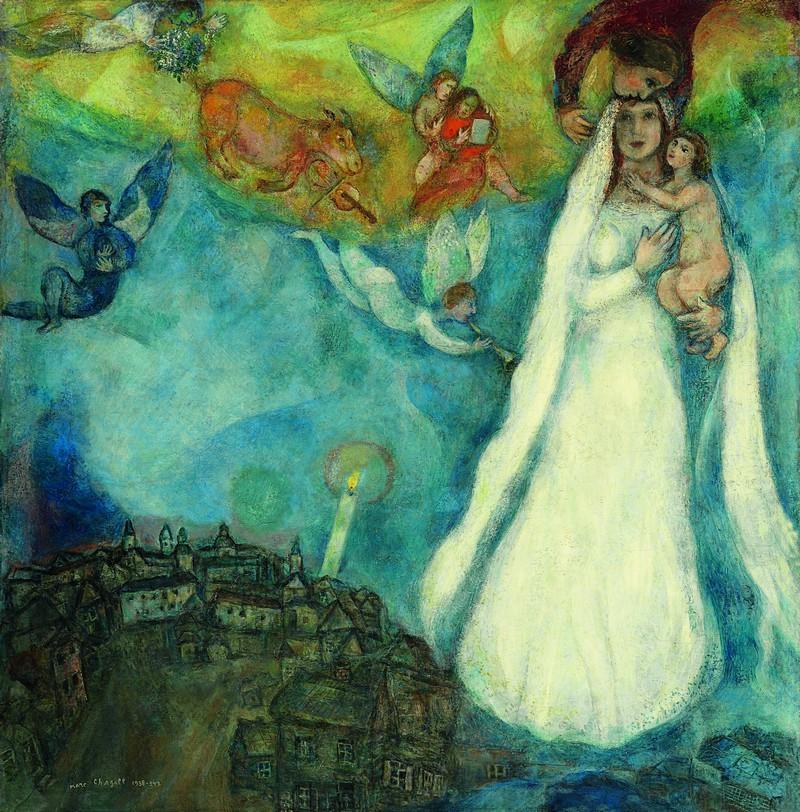 MARC CHAGALL. La Virgen de la aldea (1938-1942). Museo Thyssen-Bornemisza, Madrid © VEGAP, Barcelona, 2016 - Chagall ®