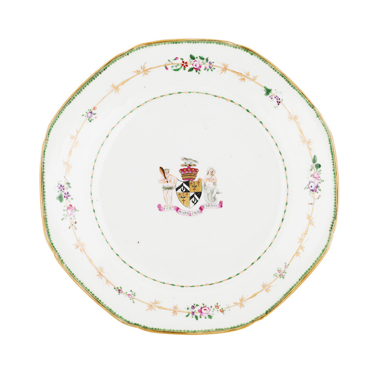 Single Plate from the Dinner Service of William Alexander of New York. Photo via Lyon & Turnbull