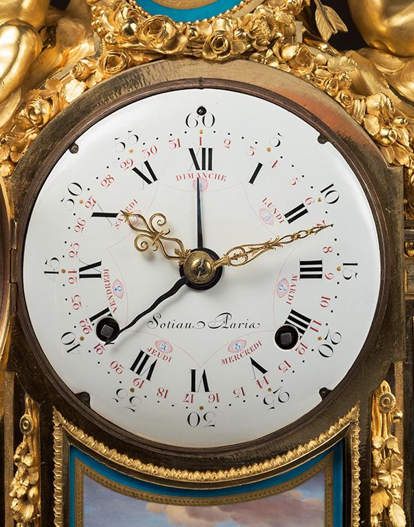 Détail de l'horloge par Renacle-Nicolas Sotiau