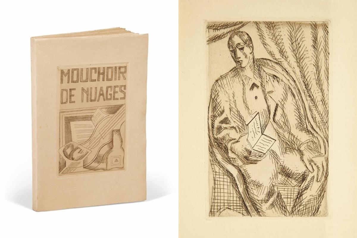 JUAN GRIS. Le mouchoir de nuage de Tristan Tzara. Imagen vía: Christie's