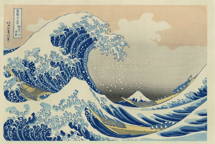 The Great Wave Off Kanagawa, Katsushika Hokusai. 1829-33, paper. Sold: $419