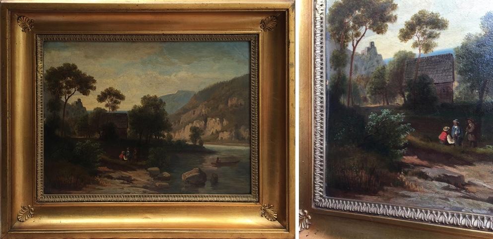 ANTON HANSCH (Wien 1813 - 1876 Salzburg) - Romantische Gebirgslandschaft, Öl/Karton, 48 cm x 35 cm, signiert Limitpreis: 2.000 EUR