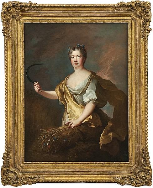 FRANÇOIS DE TROY (Toulouse 1645-1730 Paris) - Bildnis einer Dame als Allegorie der Ceres, Öl/Lwd., 130 x 97 cm Schätzpreis: 29.000 EUR