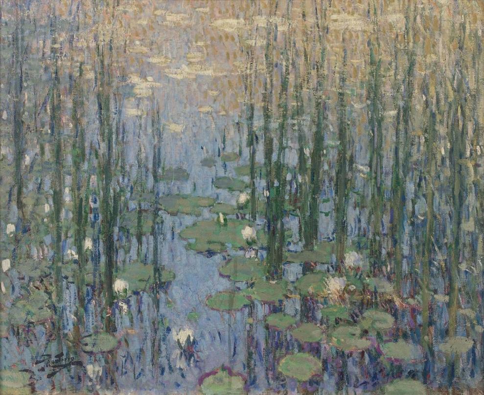 Pierre-Eugène MONTEZIN (1874-1946) Nymphéas Huile sur toile, signée en bas à gauche