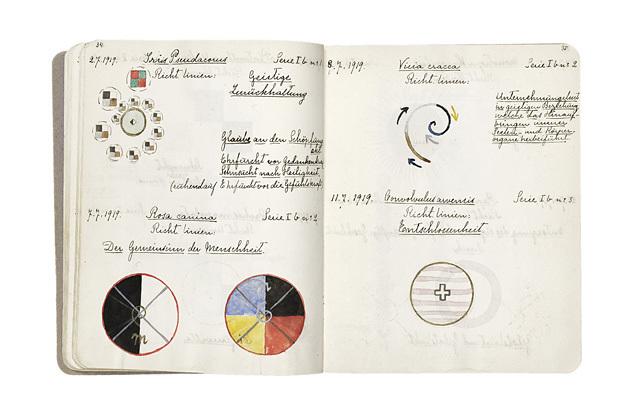 Notizbuch der schwedischen Malerin Hilma af Klint, die nie ihren verdienten Titel als erster abstrakter Künstler erhielt | Foto via Wikipedia