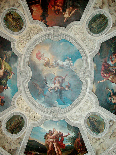 The Fall of Icarus on the ceiling of the Louvre by Merry-Joseph Blondel, 1819. Image: Musee du Louvre