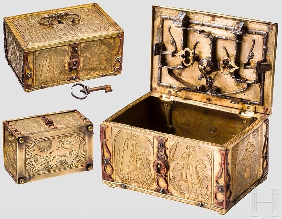 Coffret miniature en or, de l'atelier de Michael Mann, Nuremberg, v. 1600-10, image ©Hermann Historica