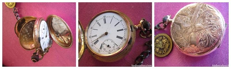 Reloj en oro con tres tapas de la marca ANCRE