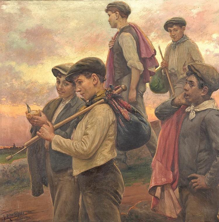 JOSÉ RICO 1864 Sevilla. Olja på duk