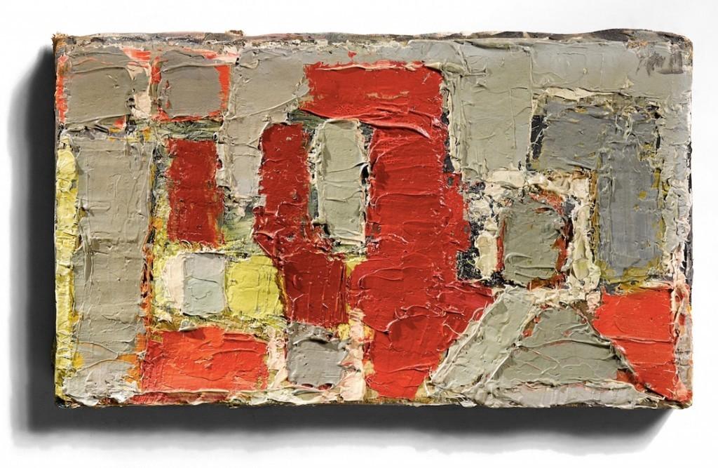 NICOLAS DE STAËL (1914–1955) - Komposition, Öl/Lwd., signerad och daterad, 1950.