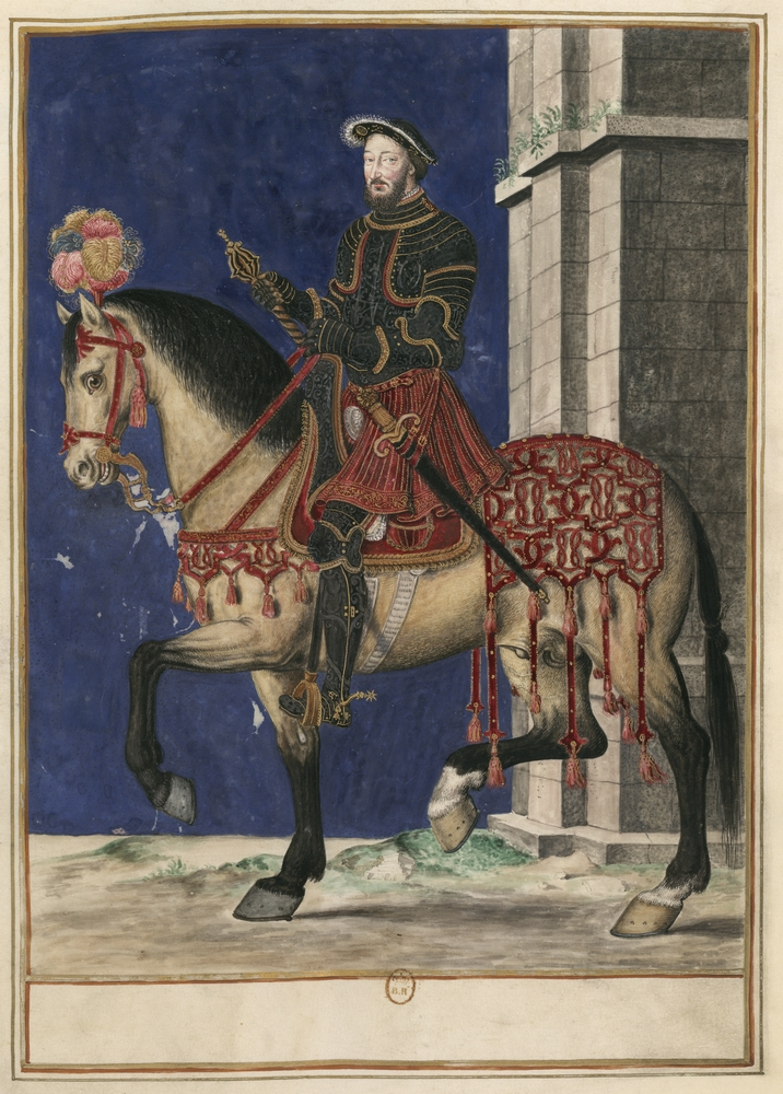 Portrait équestre de François Ier du XVIIe siècle, d'après un original du XVIe siècle  © BnF