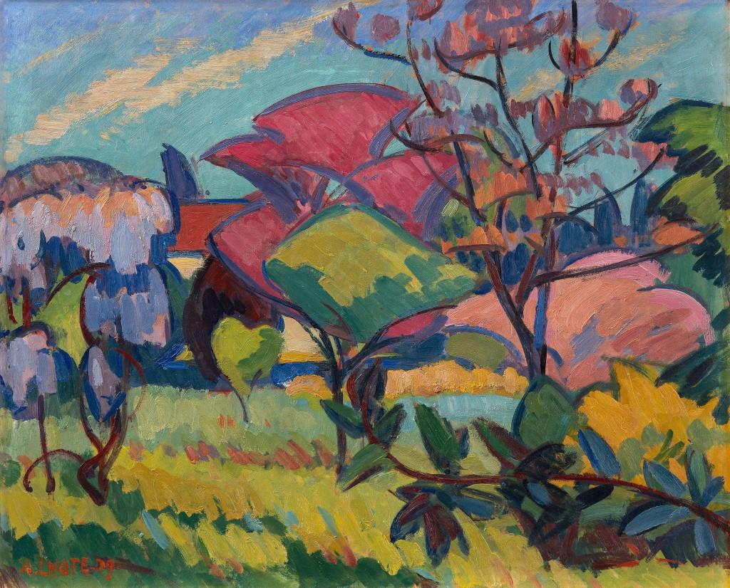 """André Lhotes """"Magnoliaträdet"""", 1909. Foto: Bukowskis."""