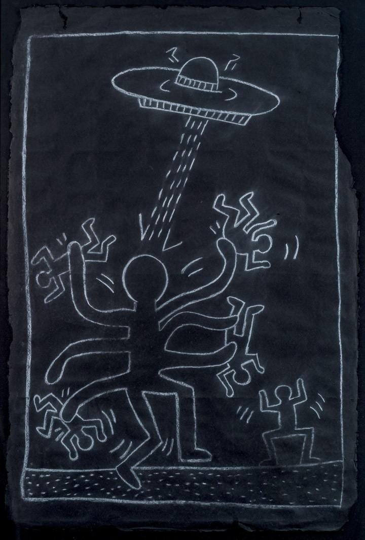 Keith Haring, Octopus Alien with UFO - Duran Subastas