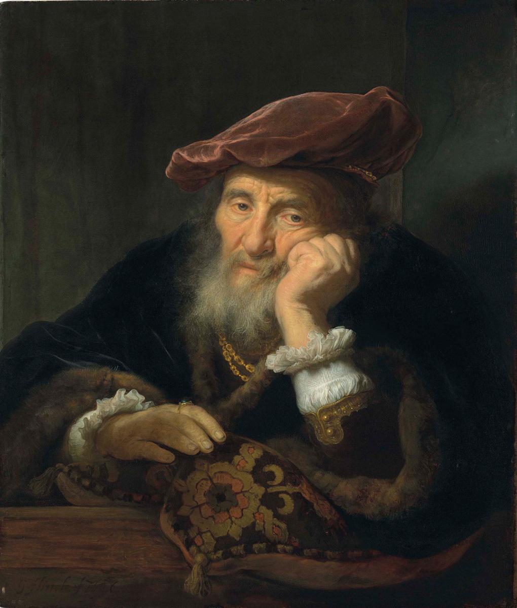 Govaert Flinck, Vieil homme à un vantail, image ©Christie's