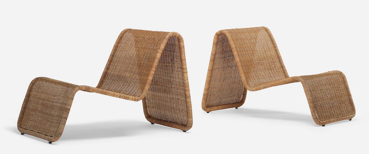 Chaises longues par Tito Agnoli Wright Estimation basse: 1 800 €